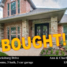 5303 Vicksburg Drive, Arlington, TX  76017, BOUGHT!