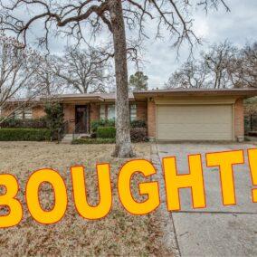 1306 W. Lavender Lane, Arlington, TX  76013, BOUGHT!